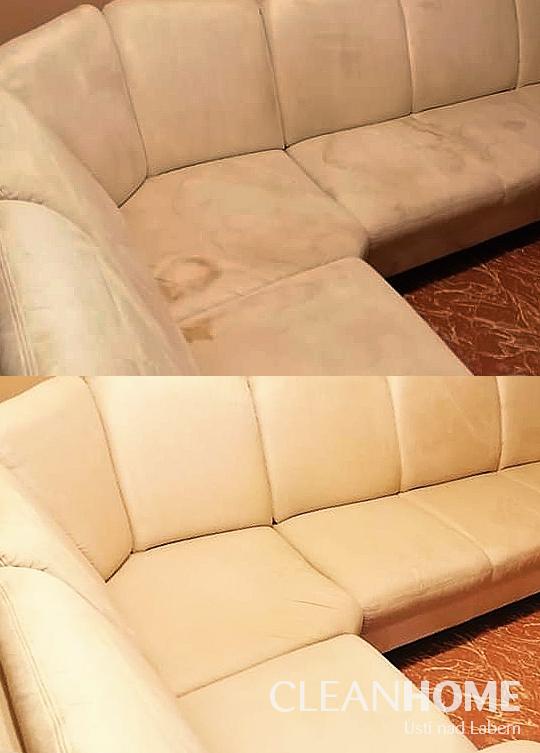 Hloubkové čištění gauče